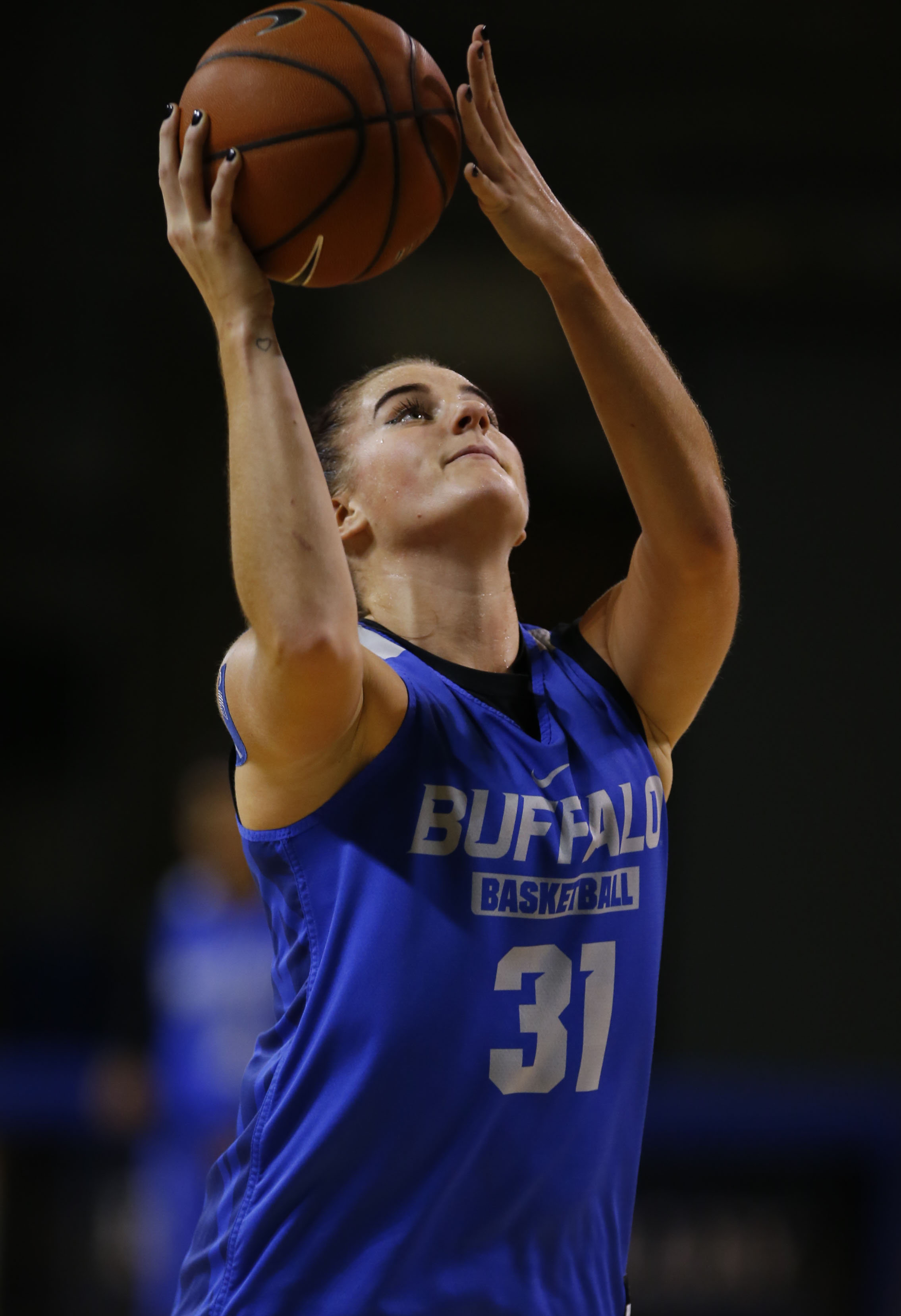 Grand Island native Cassie Oursler is part of UB's formidable inside presence. (Harry Scull Jr./Buffalo News)