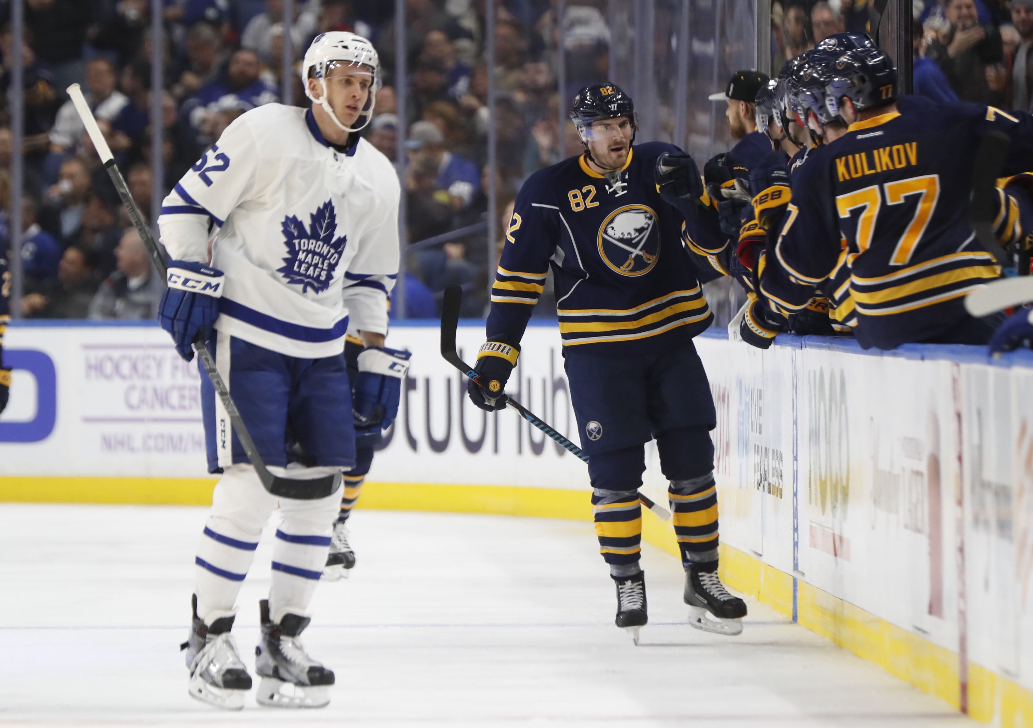 Marcus Foligno scored the only goal of the game for the Sabres. (Harry Scull Jr./Buffalo News)