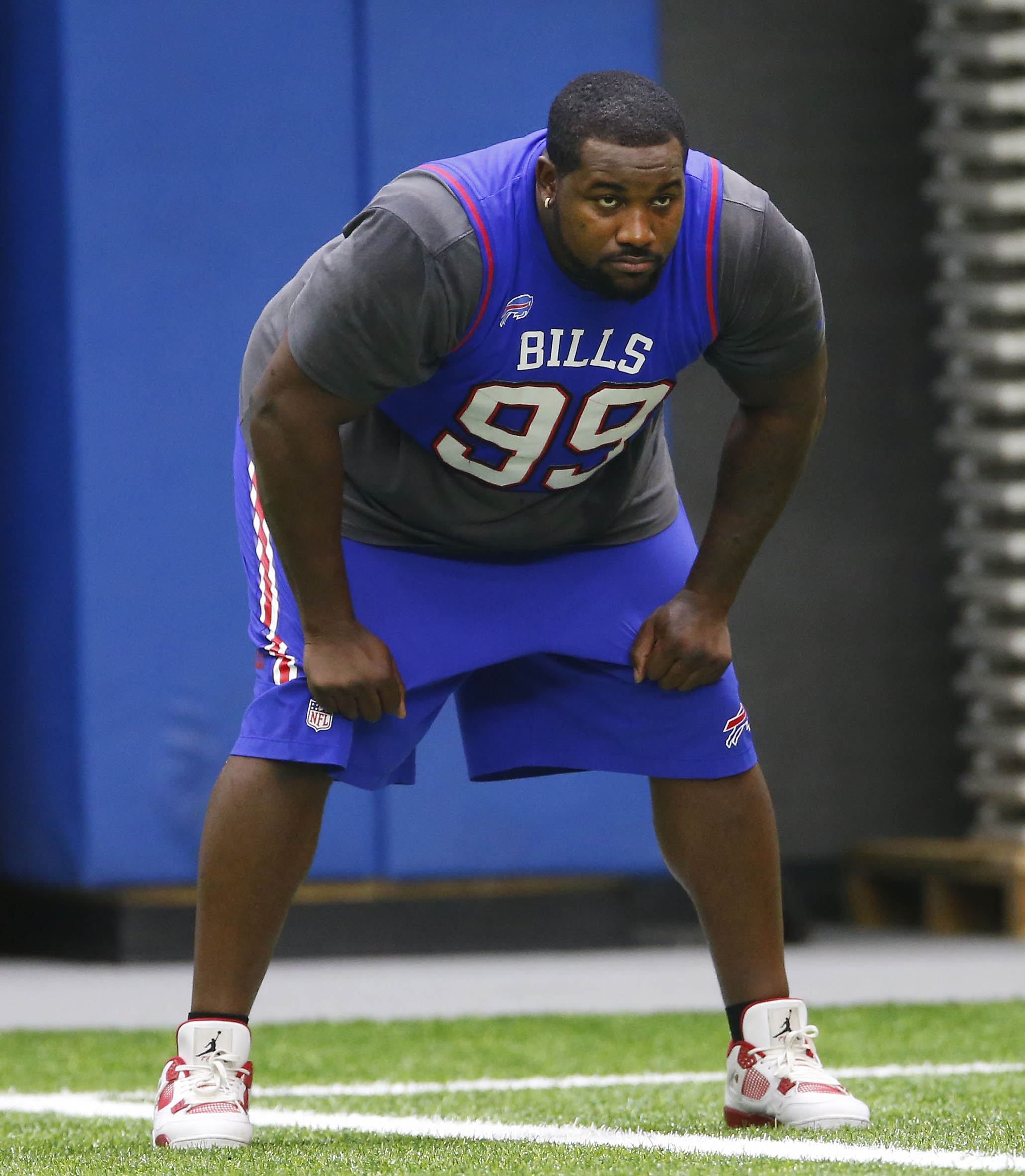 Marcell Dareus has spent far too much time on the sidelines since signing a monster contract extension before the 2015 season. (Mark Mulville/Buffalo News)