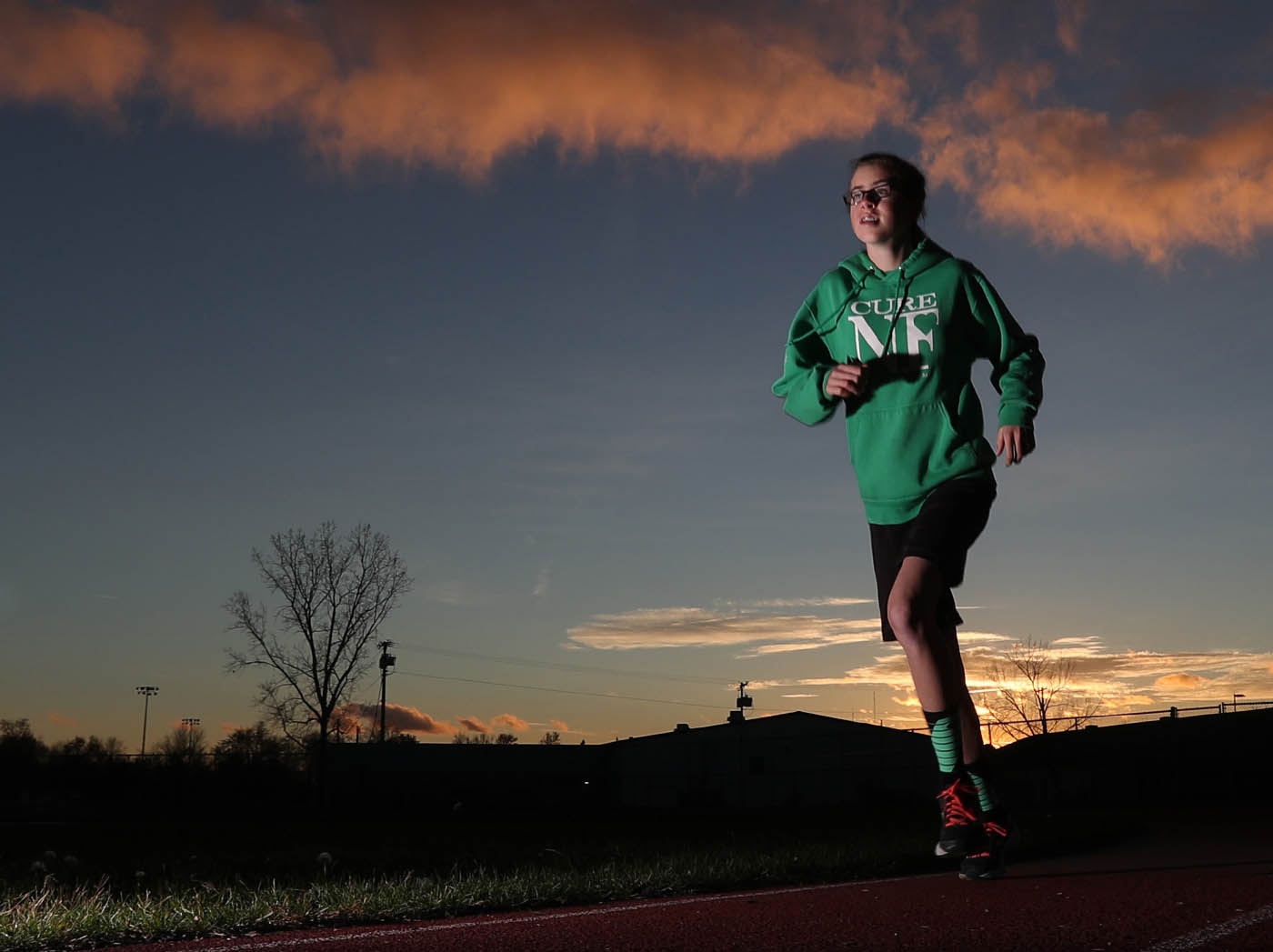 Leah Manth is a cross country/track runner with Neurofibromitosis. There is no cure for her condition. Photo taken at North Tonawanda high school in North Tonawanda on Wednesday, Nov. 9, 2016. The Seahawks won the game 31-25. (James P. McCoy/Buffalo News)