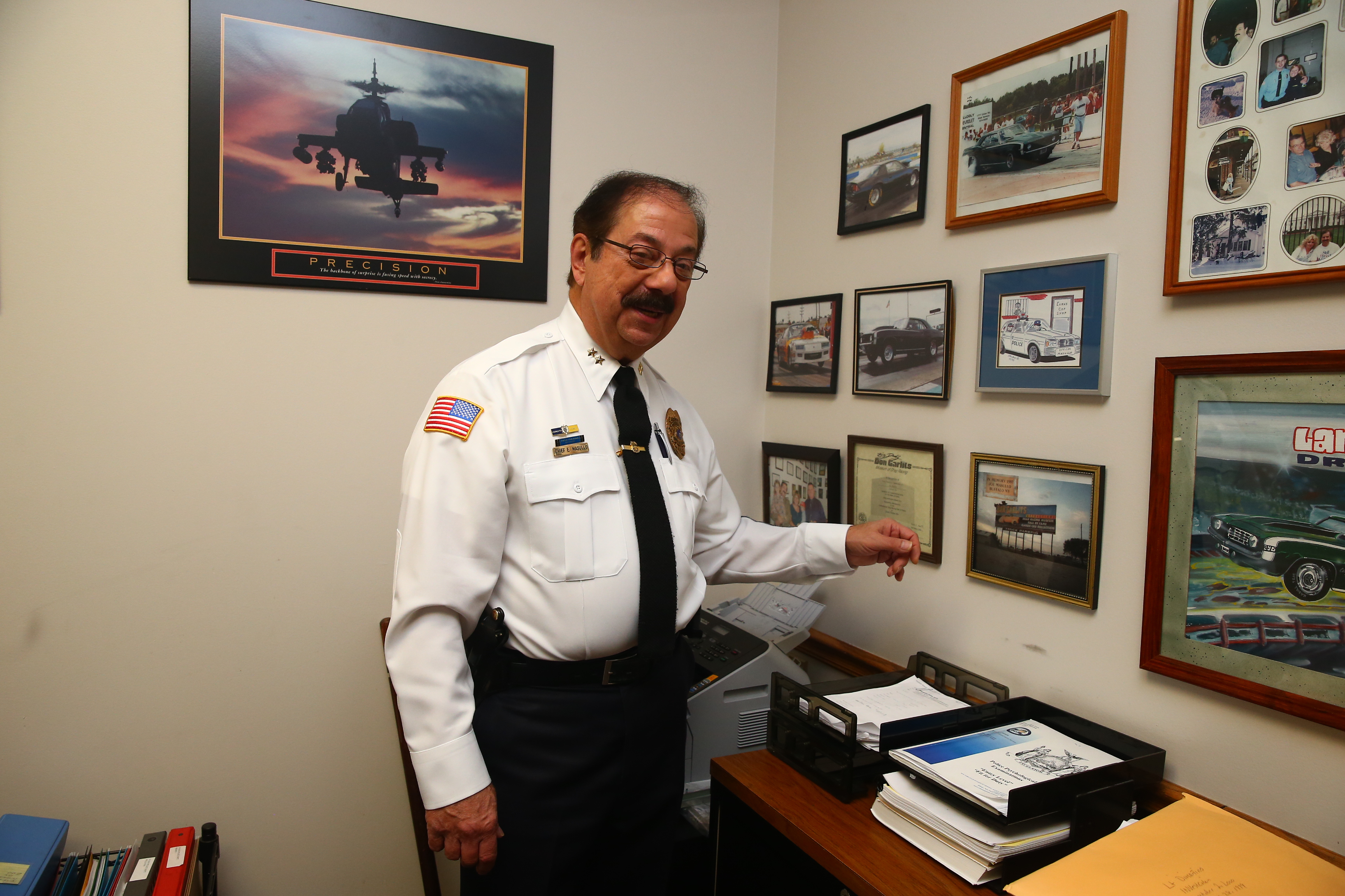 Evans Police Chief Ernest Masullo in 2013 had a major battle with Frank A. Sedita III, then Erie County's district attorney, over Barry Moss case.  (John Hickey/Buffalo News)