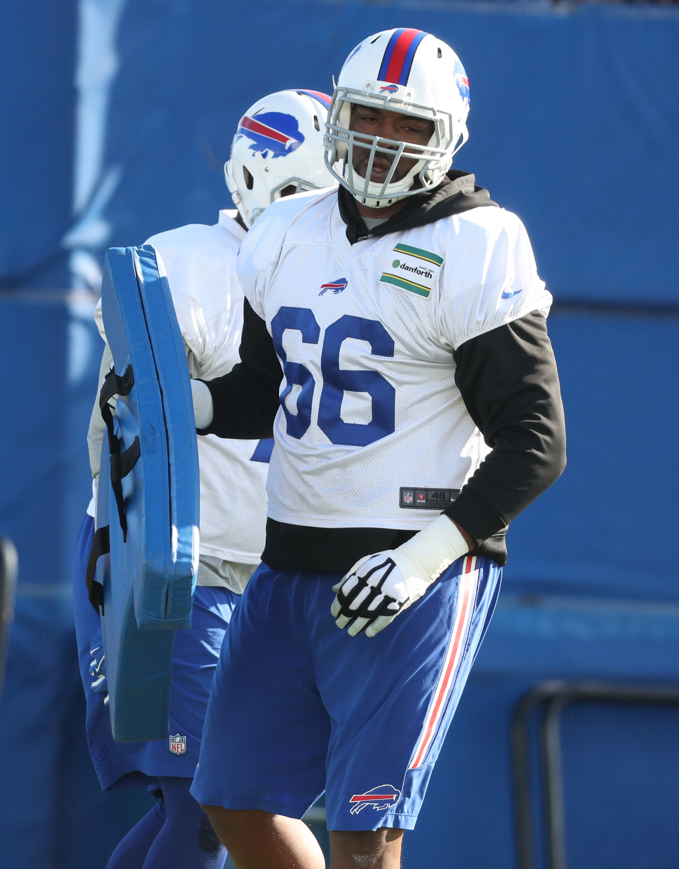 Buffalo Bills tackle Seantrel Henderson (66) was given a 10-game NFL suspension Tuesday. (James P. McCoy/Buffalo News)