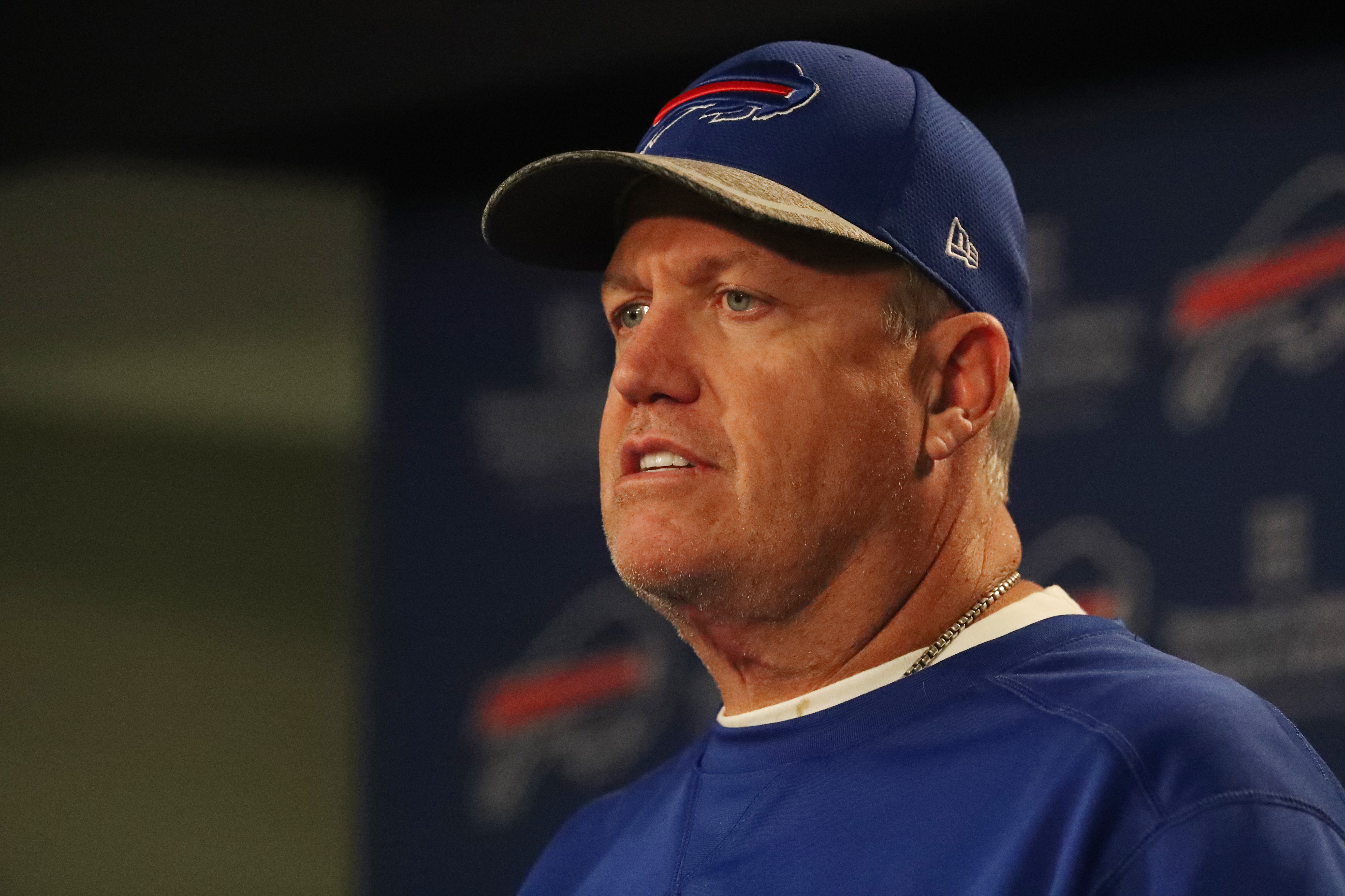 Ex-Buffalo Bills head coach Rex Ryan has signed on to be an NFL analyst for ESPN. (James P. McCoy/Buffalo News)