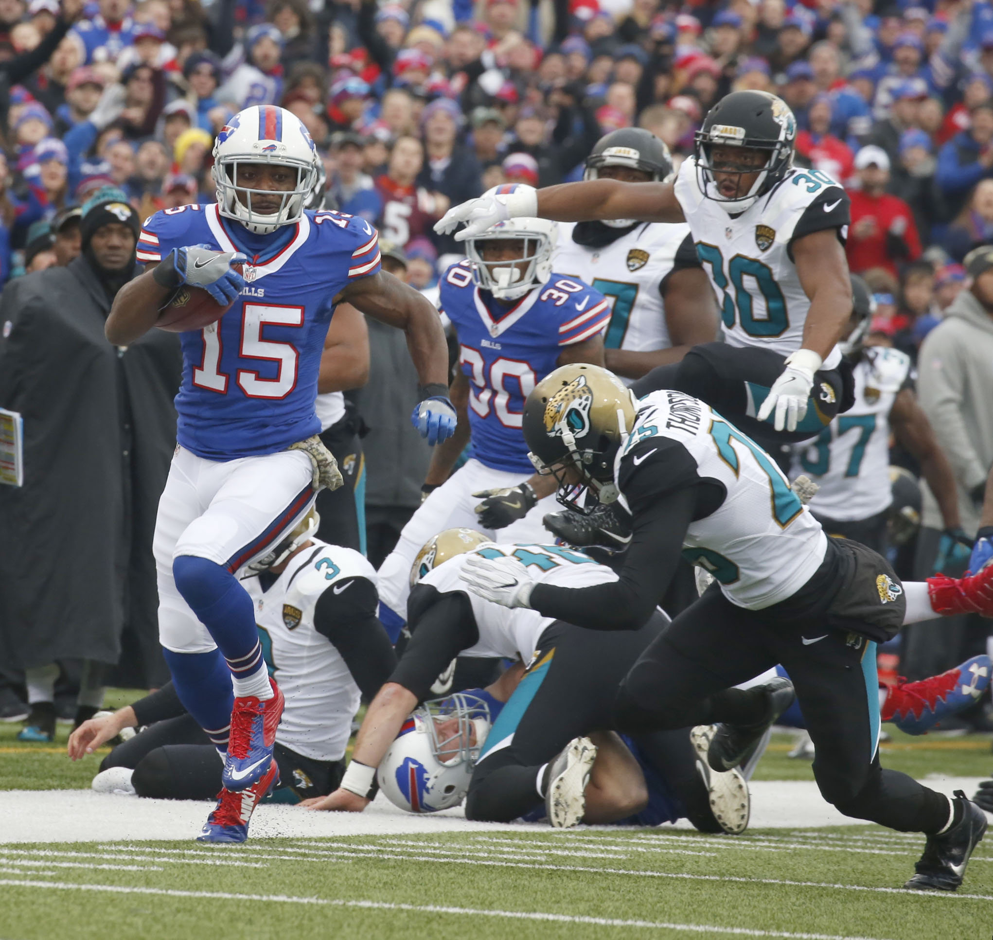 Brandon Tate on the move in the first half. (Robert Kirkham/Buffalo News)
