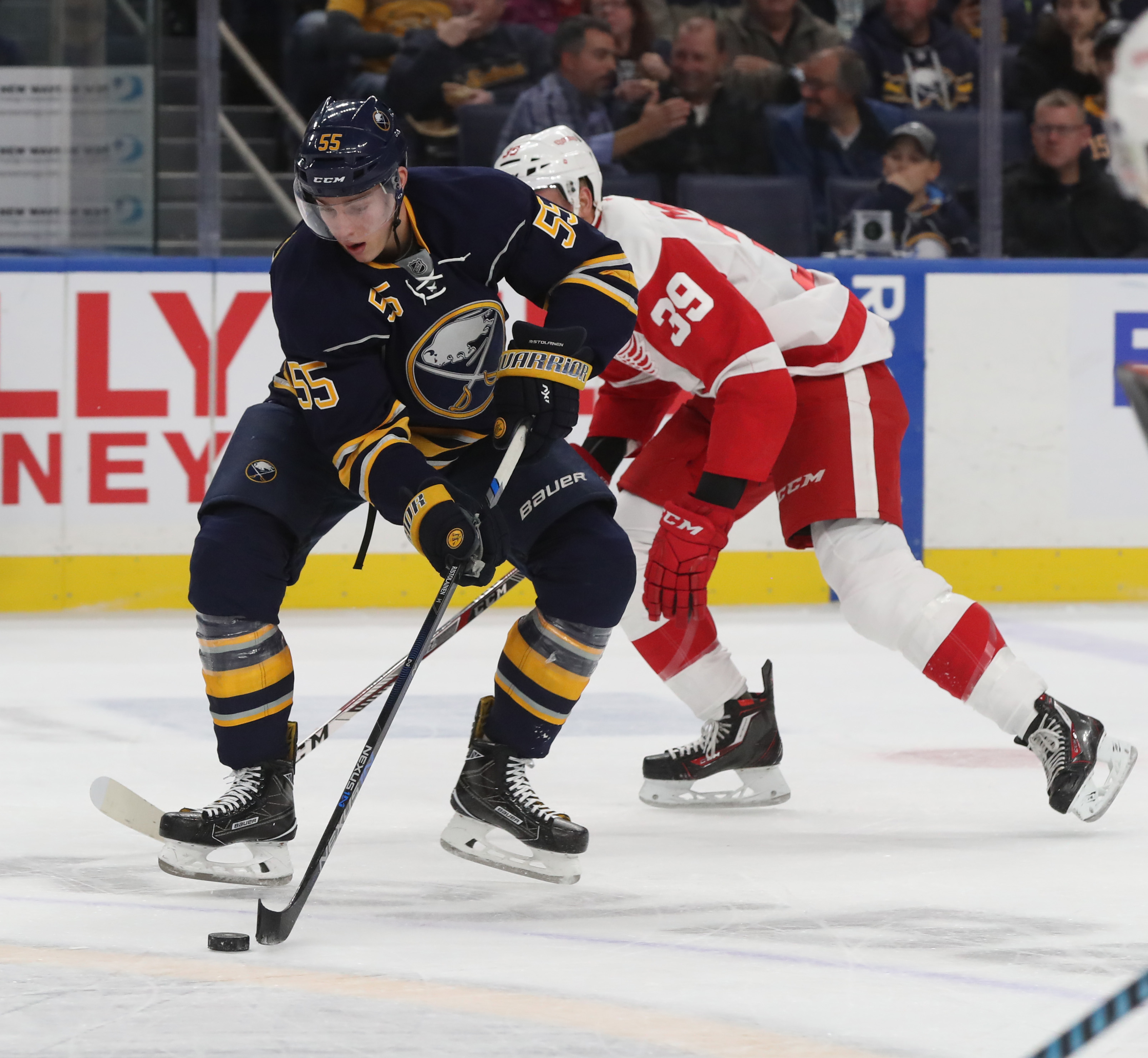 Sabres defenseman is among the NHL leaders in ice time but needs his first goal. (James P. McCoy/Buffalo News)