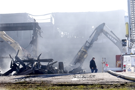Cleanup at the Bethlehem Steel site where a massive inferno raged for days last week could take 'months' to complete.
