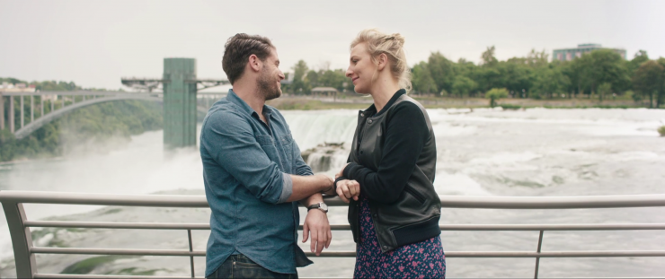 """Jon Abrahams and Erika Christensen star in """"Two for One."""" The movie was made in Buffalo and will have its world premiere at Buffalo Dreams."""