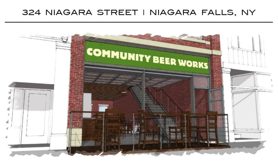 Plans were announced to turn the former Press Box Restaurant in Niagara Falls into a Community Beer Works Barrel House.