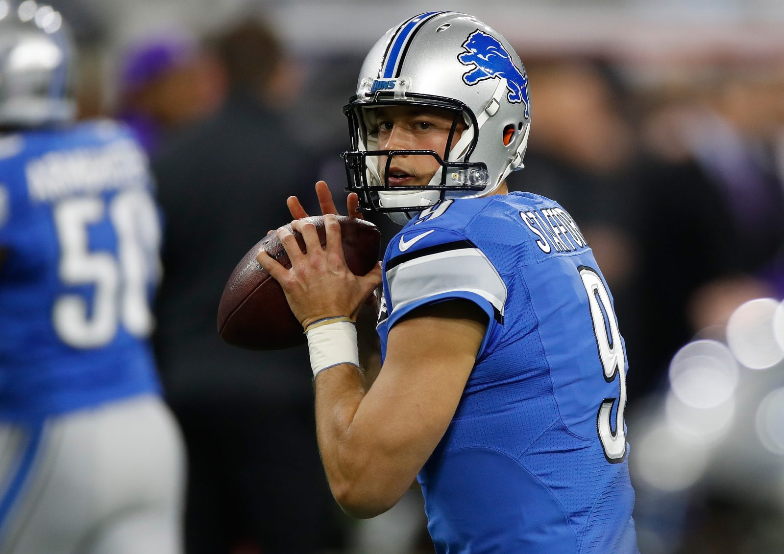 Jeff Simon says football on Thanksgiving should be about the Detroit Lions, not two more games. (Gregory Shamus/Getty Images)