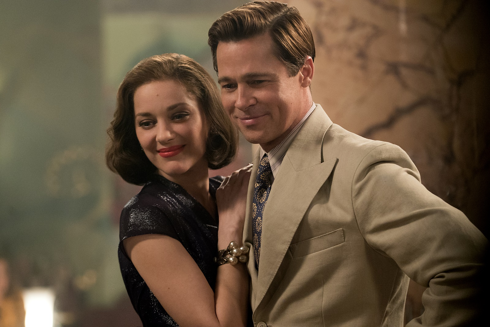 Marion Cotillard and Brad Pitt have a wartime romance in 'Allied.'