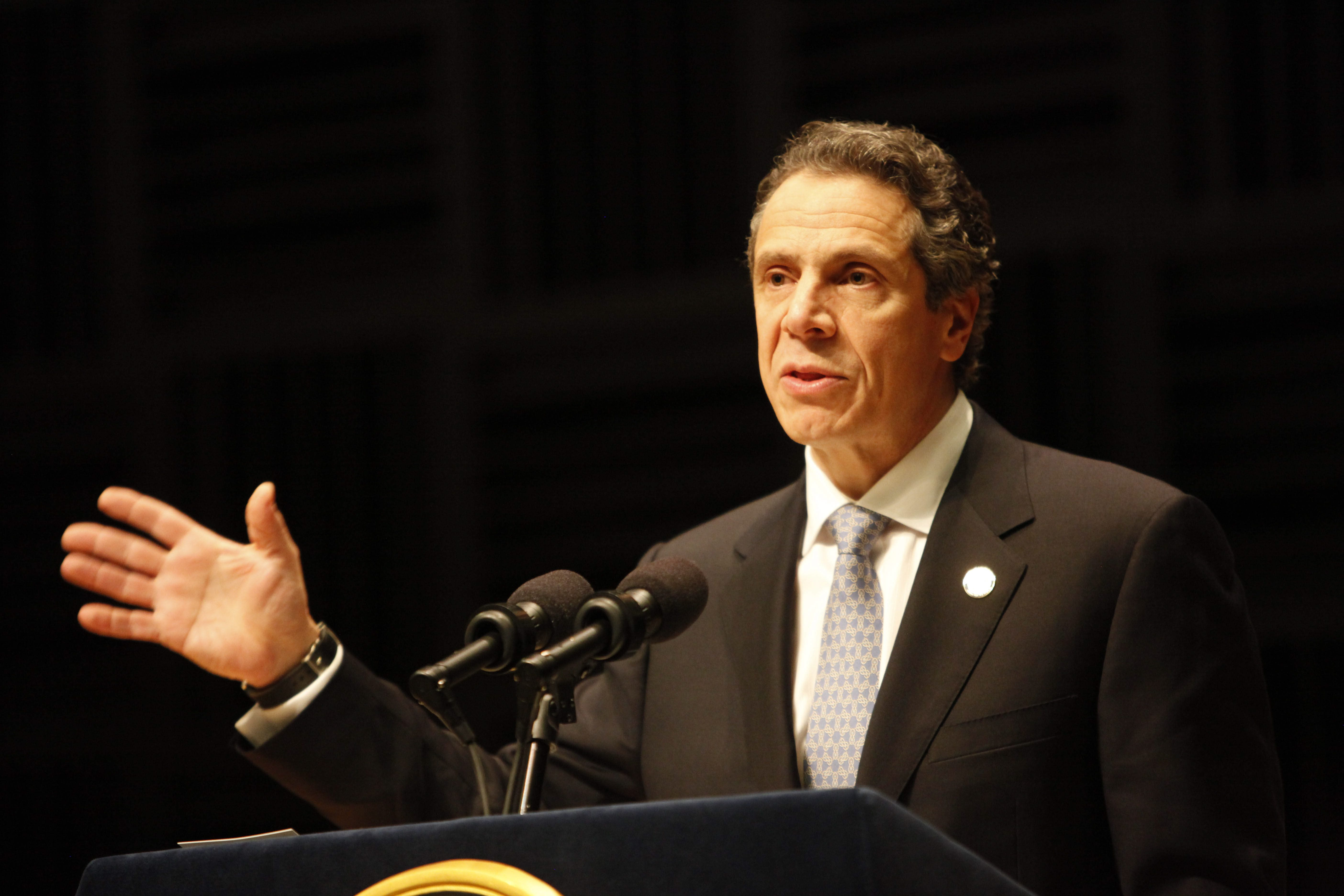 Gov. Andrew Cuomo proposes free tuition if New York State students they attend a public university or community college in the state and have family or individual annual income below $125,000,  {Photo by Derek Gee / Buffalo News / File photo}