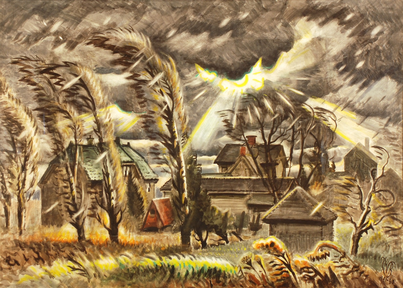 """""""December Storm,"""" by Charles Burchfield, the centerpiece of Burchfield Penney's 50th anniversary exhibition."""