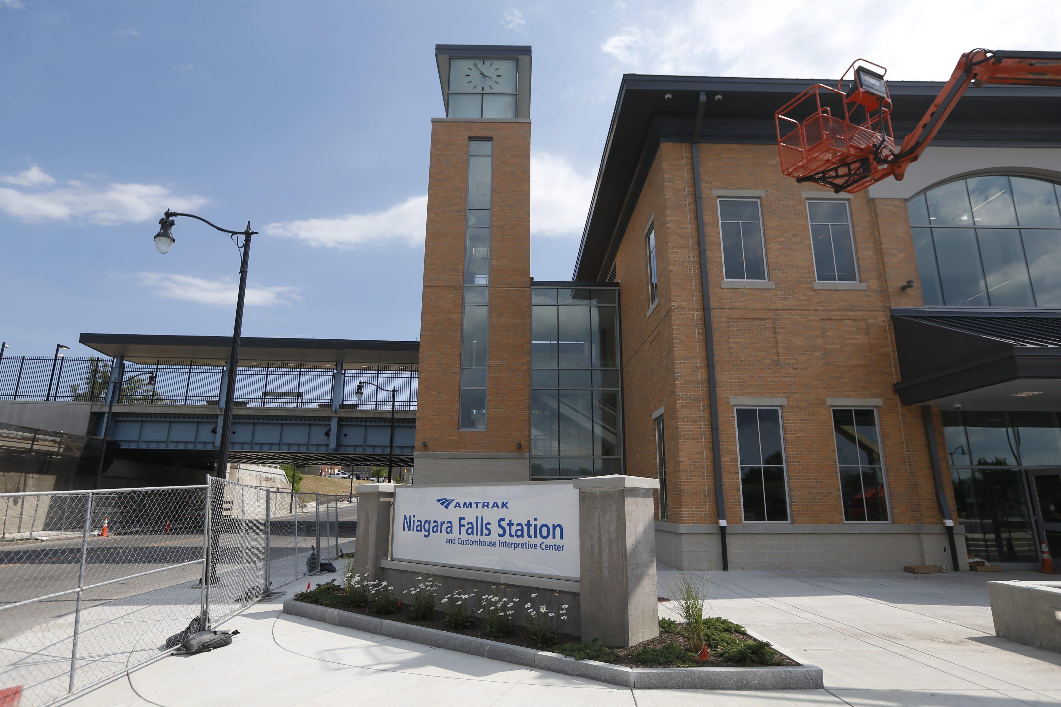 The new $43 million Amtrak station in Niagara Falls. (Robert Kirkham/Buffalo News file photo)