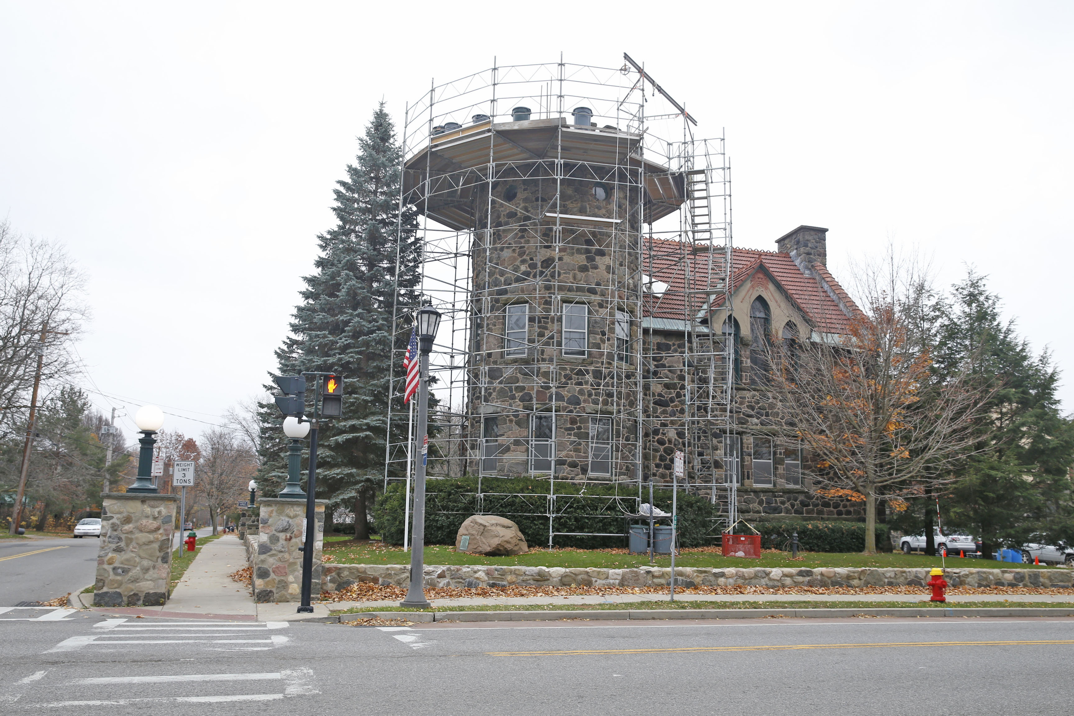 The Aurora town offices were located until 2012 in this historic castle-like chapel on Main Street in the village of East Aurora. (Robert Kirkham/Buffalo News)