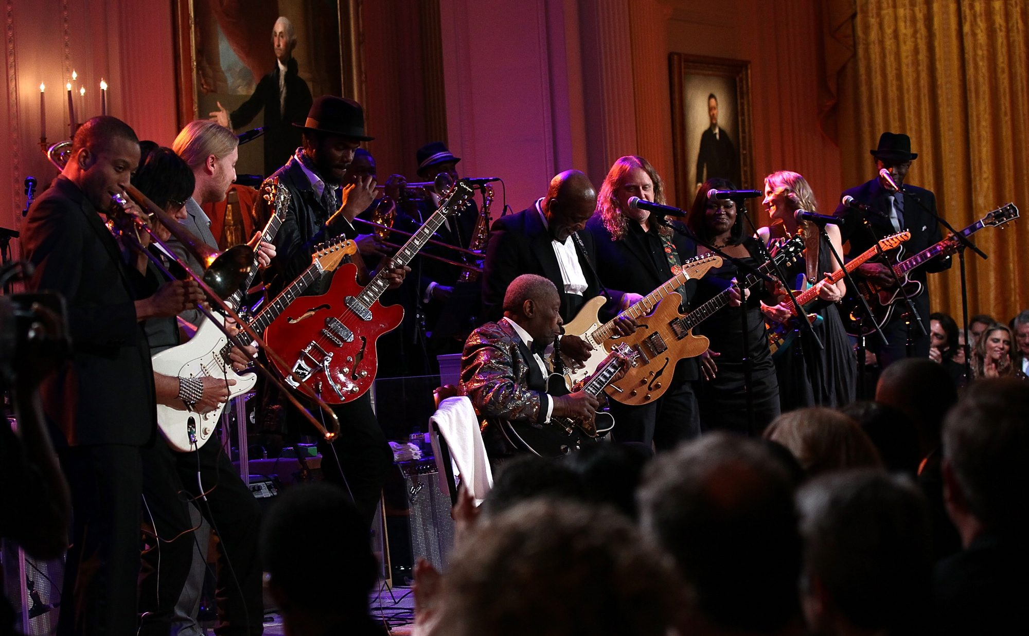 Blues legend B.B. King performed with an all-star cast at 'White House: Red, White and Blues' in 2012. (Getty Images)