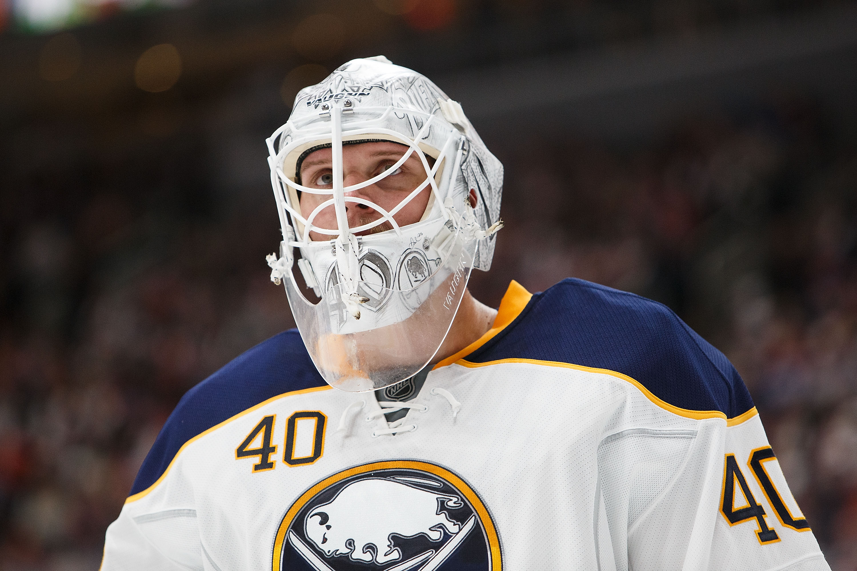 Sabres goalie Robin Lehner is 3-1 with a .961 save percentage in his last four starts. (Getty Images)