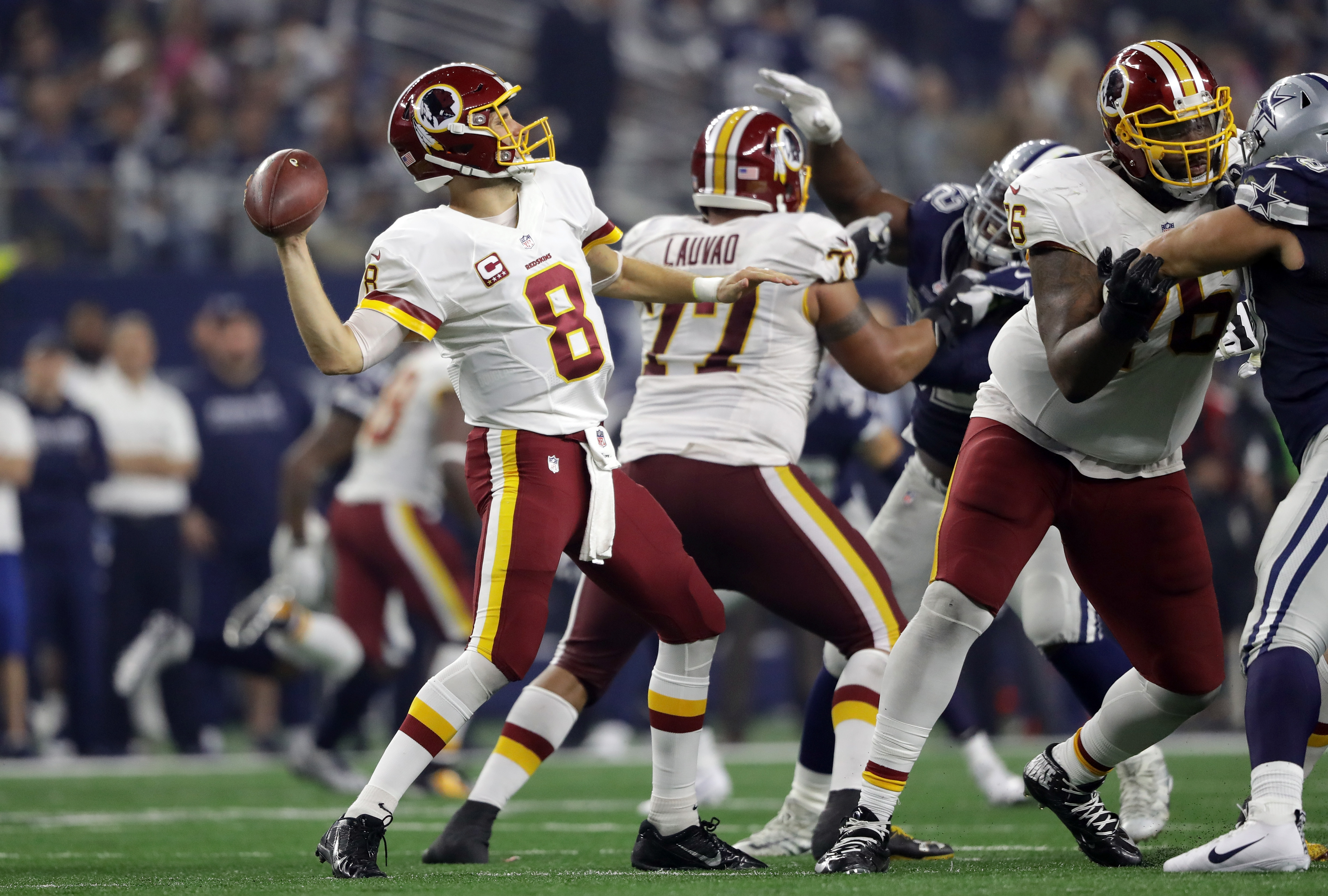 Redskins quarterback Kirk Cousins would be a coveted commodity on the free-agent market. (Getty Images)