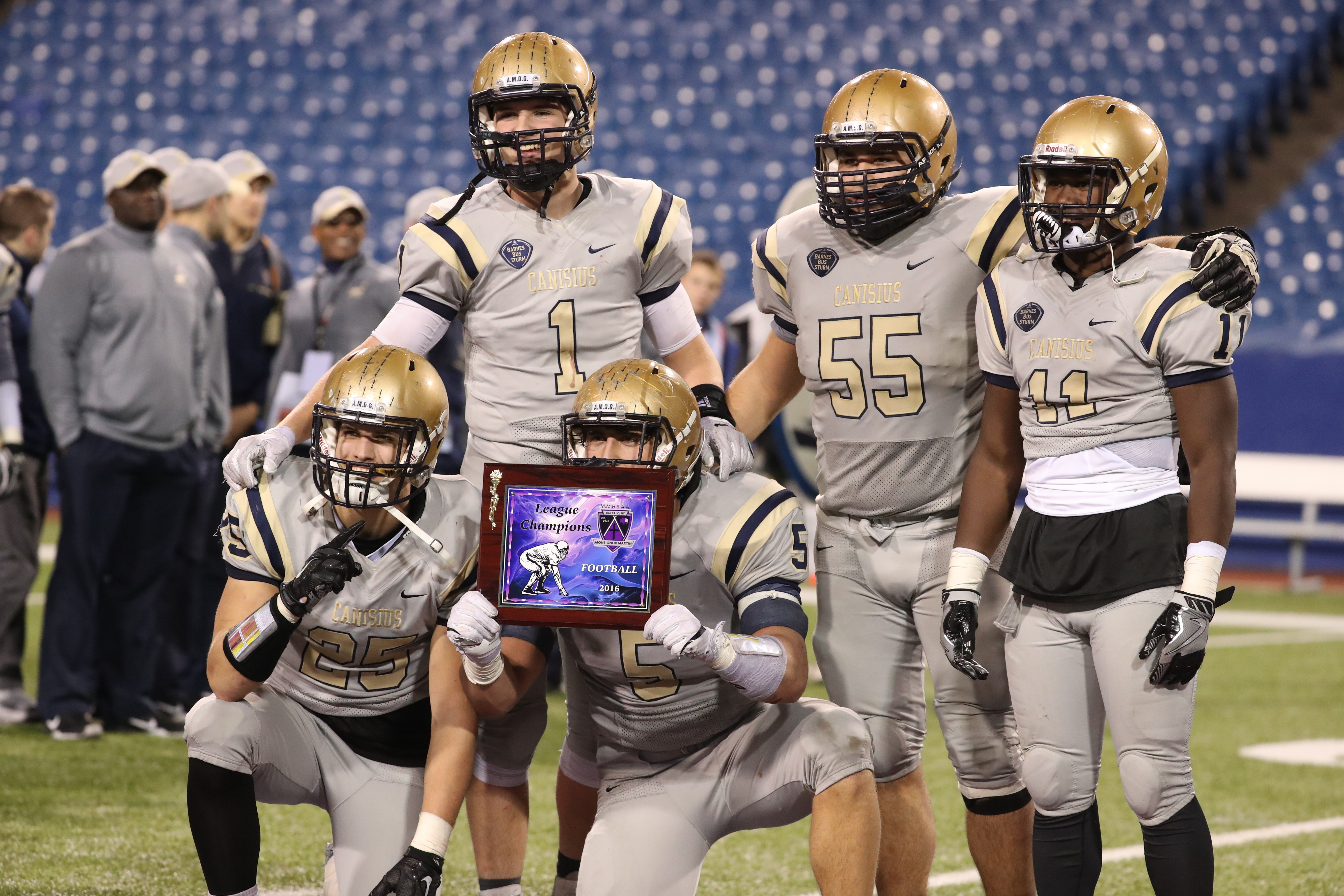 Canisius has been idle since defeating St. Francis, 31-21, for the Monsignor Martin High School Athletic Association football championship at New Era Field on Nov. 17. (James P. McCoy/Buffalo News)
