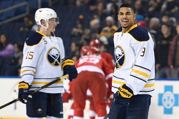 Without Jack Eichel and Evander Kane (right), there's been little to smile about for the Sabres' offense this season (Getty Images).
