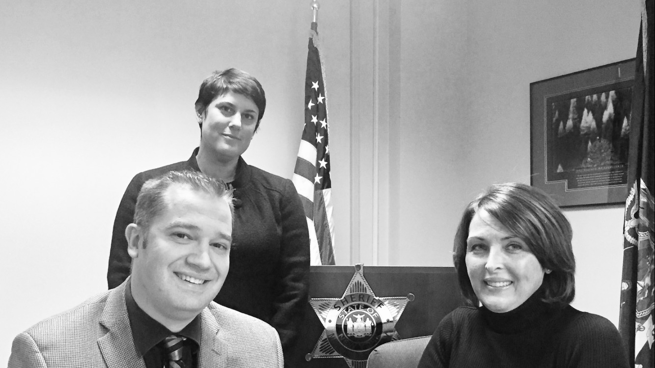 The Niagara County welfare fraud team includes, from left, sheriff's Investigator Scott A. Gebhardt, Assistant District Attorney Elizabeth R. Donatello and her supervisor Heather A. Sloma, chief of the DA's Financial Crimes Bureau. (Thomas J. Prohaska / The Buffalo News)
