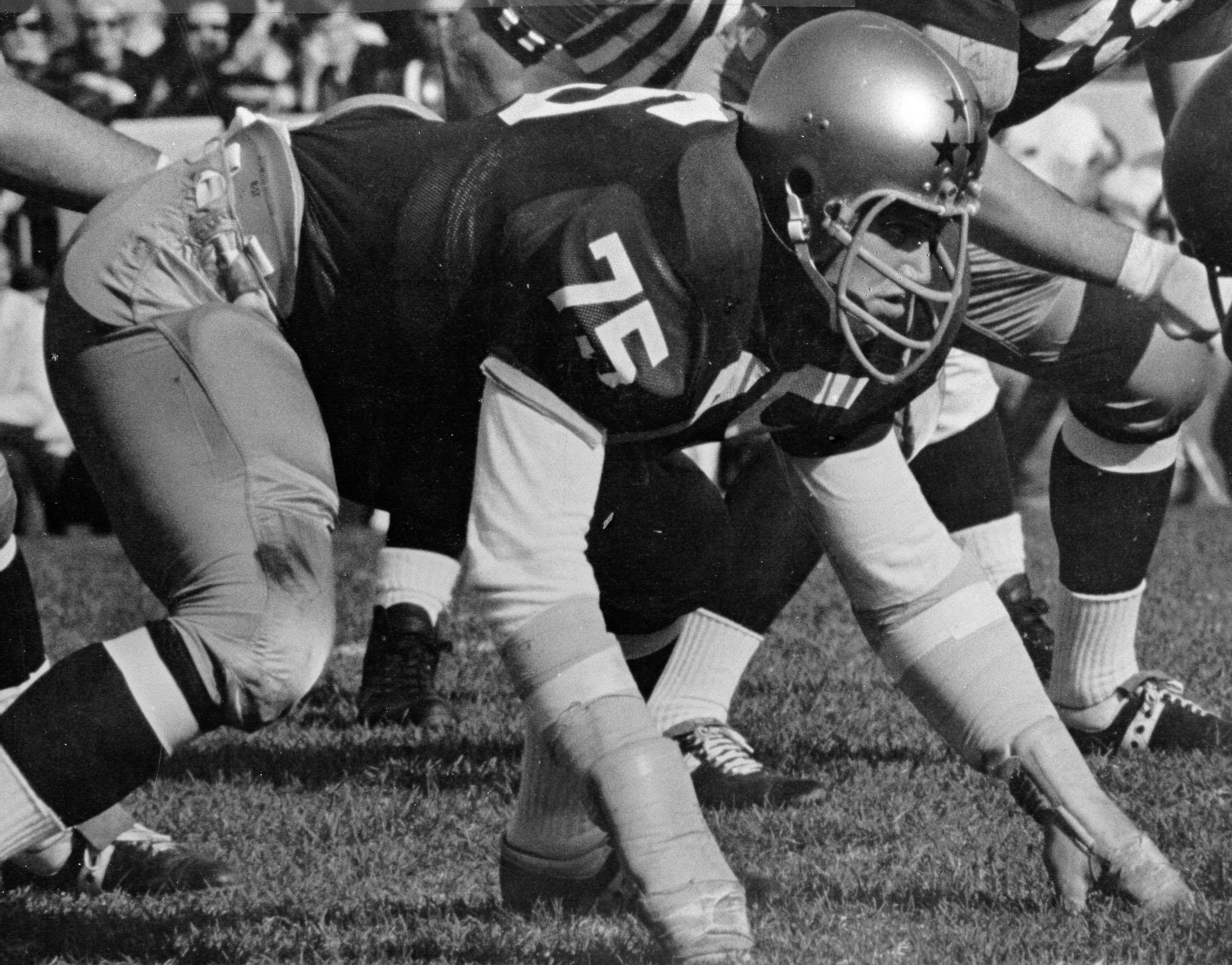 Walt Patulski at Notre Dame. (Notre Dame Athletics photo)