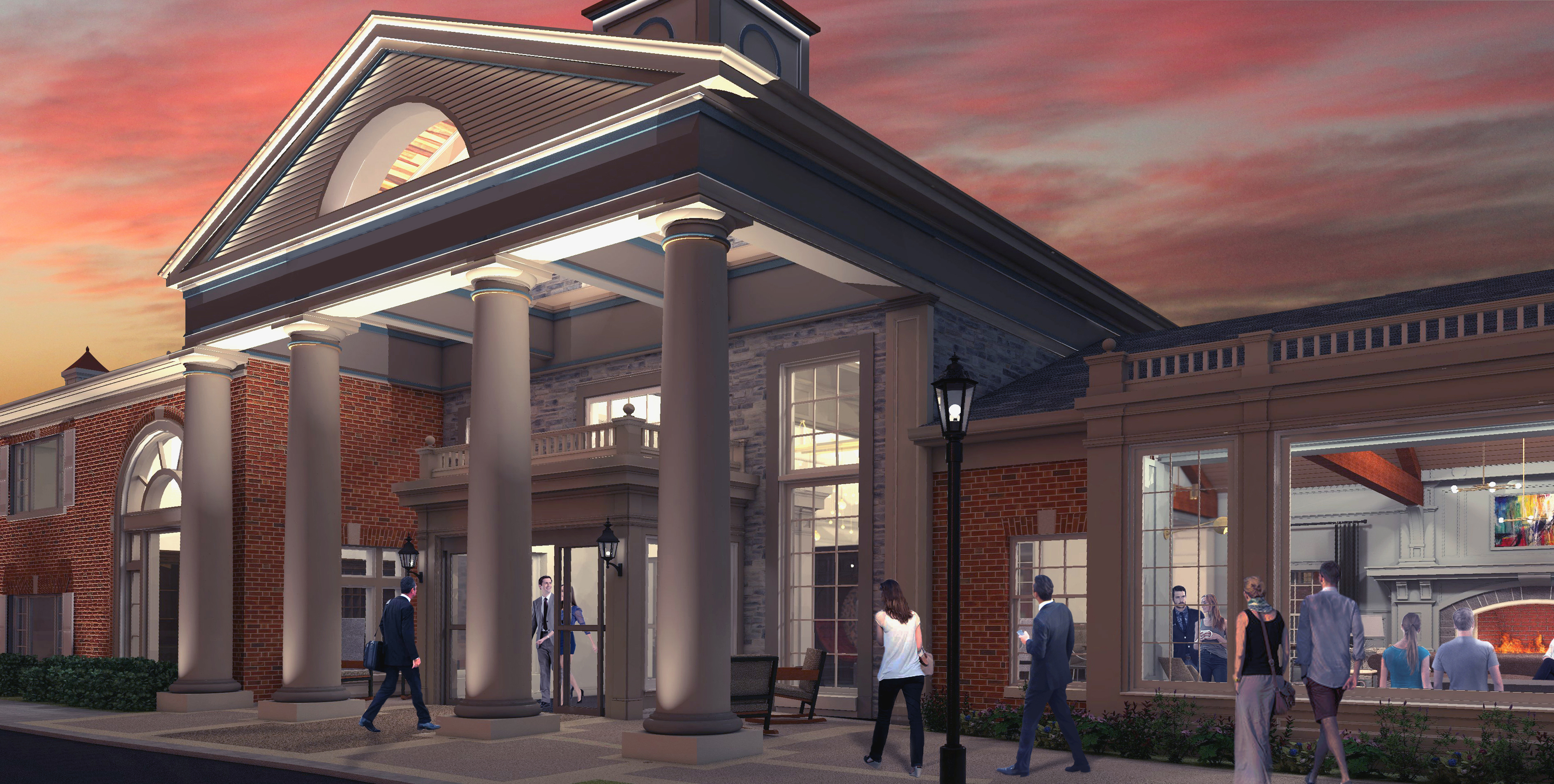 Rendering of the outside of the proposed Reikart House, formerly Lord Amherst Hotel.