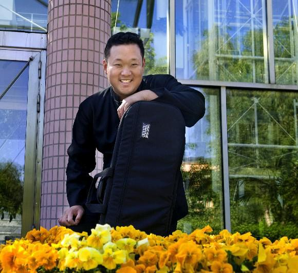 """Dennis Kim, the BPO's concertmaster, says that although his part is hard: """"It's 10 times harder for Roman."""""""