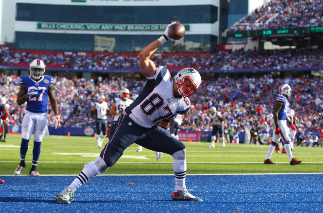 Patriots tight end Rob Gronkowski. (News file photo)