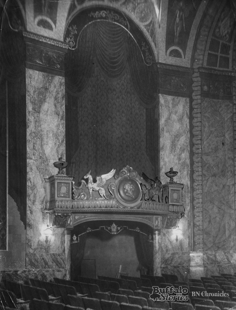 Inside the Shea's Seneca just before opening night, 1930. Buffalo News archives
