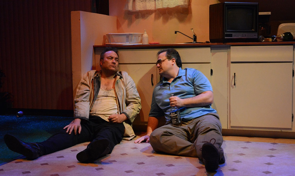 Road Less Traveled Productions' TRUE WEST by Sam Shepard. David Mitchell and Matt Witten