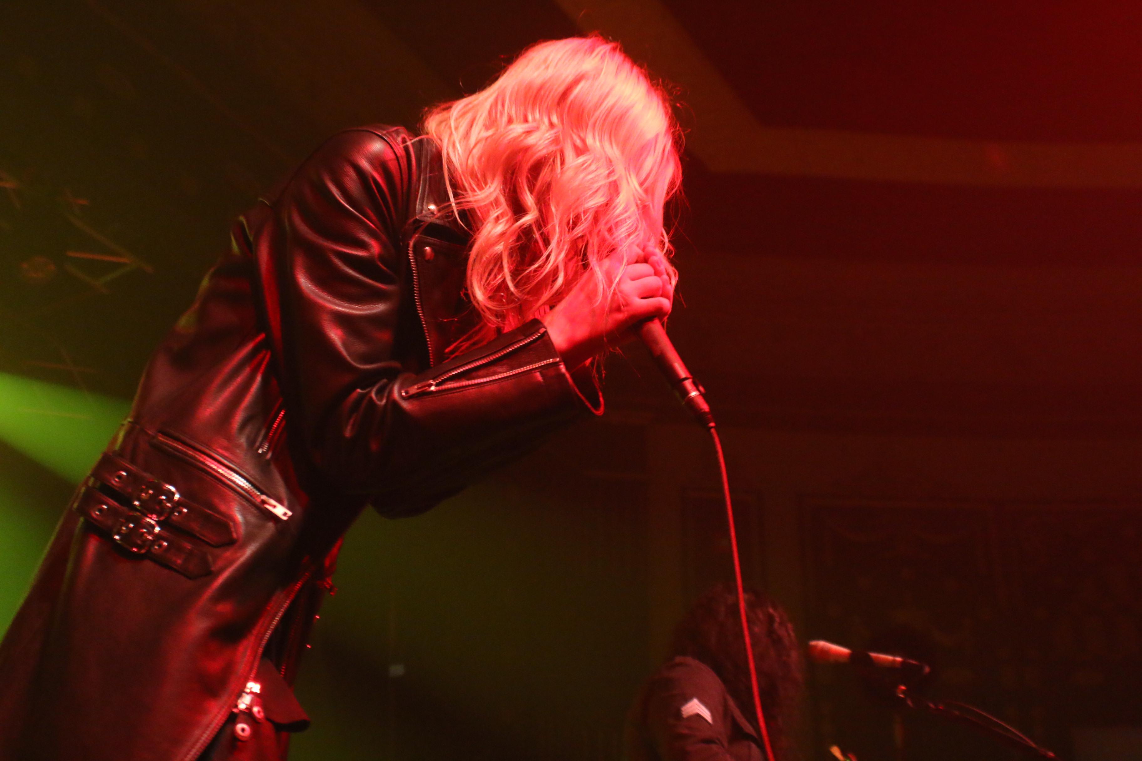 Taylor Momsen onstage at Rapids Theatre in Niagara Falls.