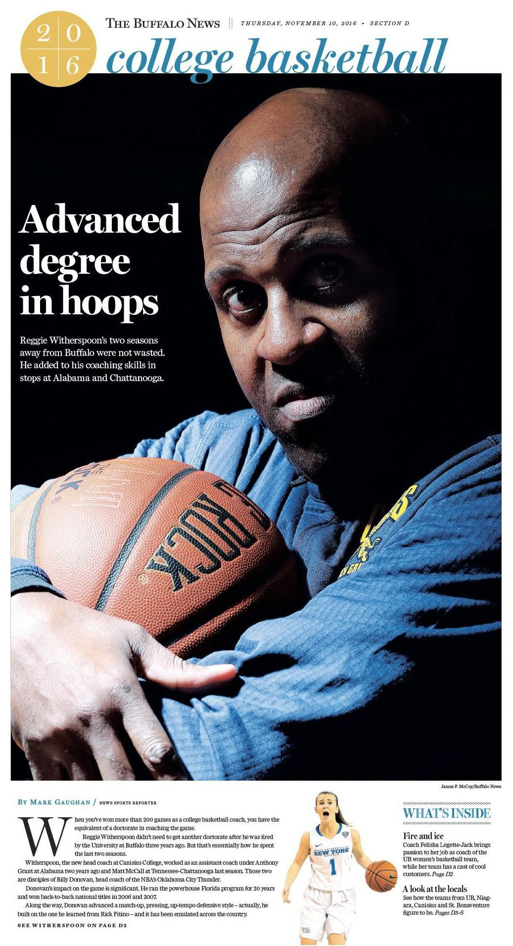 Our special section cover. Photo by James P. McCoy; design by Jason Baum.