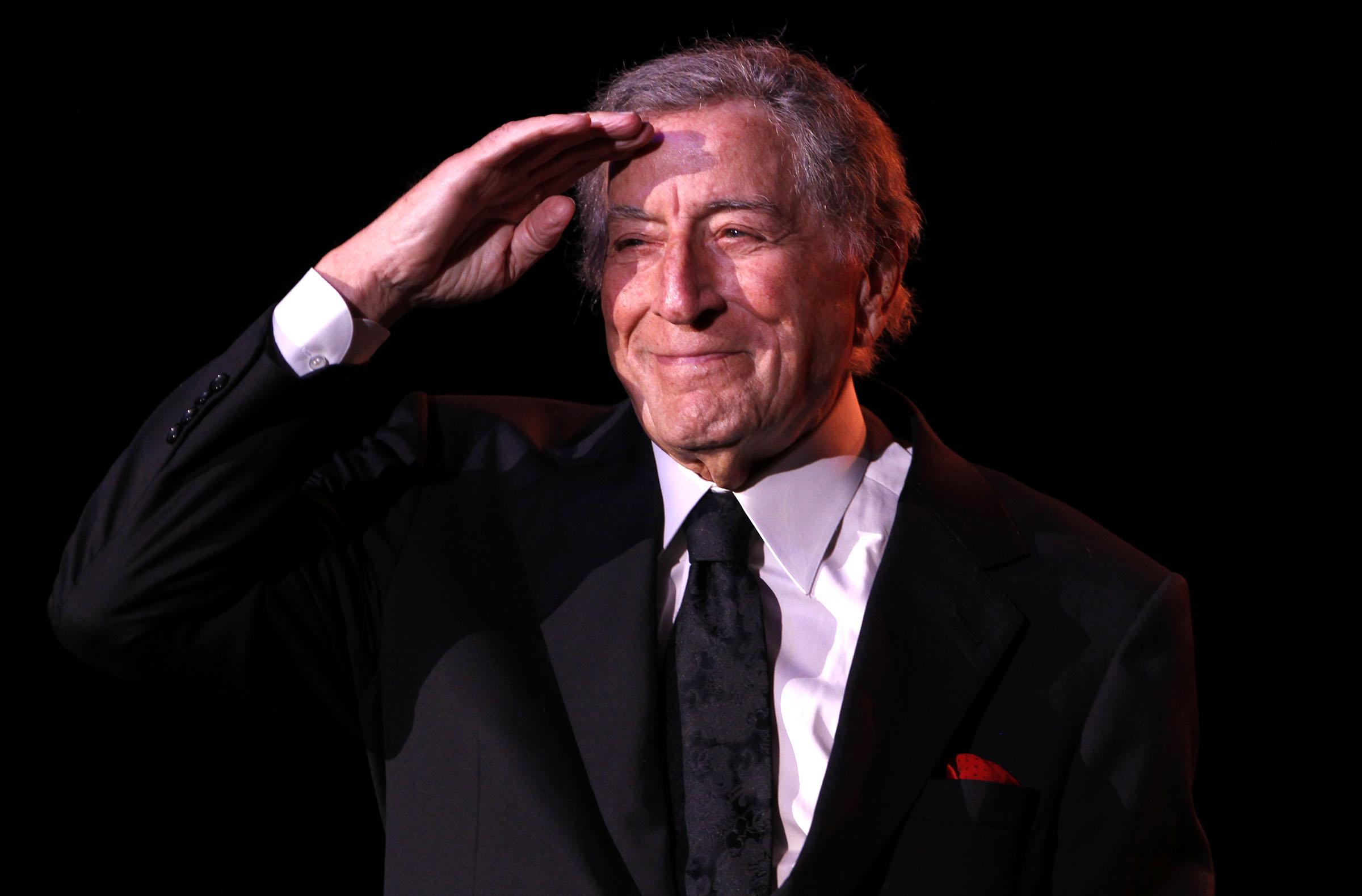 Tony Bennett, at the Seneca Events Center, in 2012. (Harry Scull Jr. / Buffalo News}