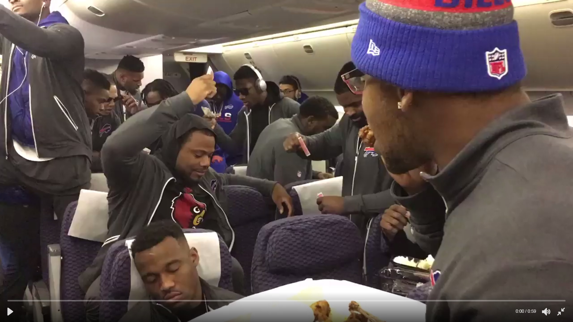 Screenshot of the Buffalo Bills' mannequin challenge video.