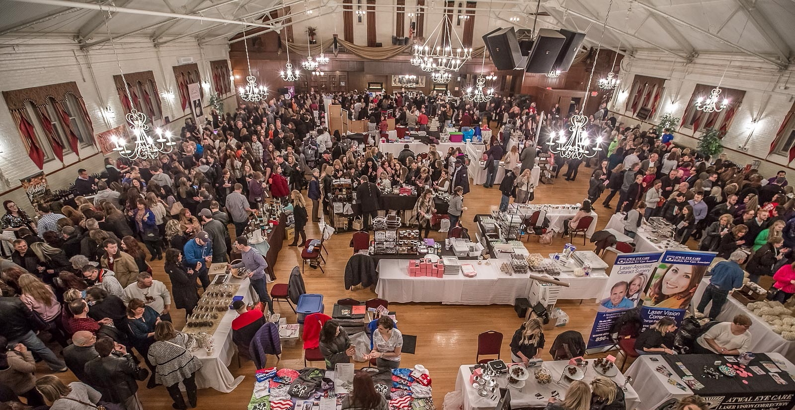 A wide look at the activity inside the Tonawanda Castle during the Wine and Chocolate Affair in February 2016. Christmas at the Castle runs in the same venue this weekend. (Don Nieman/Special to The News)
