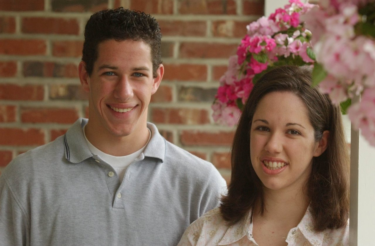Twins Lauren and Andy Byers at their Clarence home Saturday May 24, 2003.
