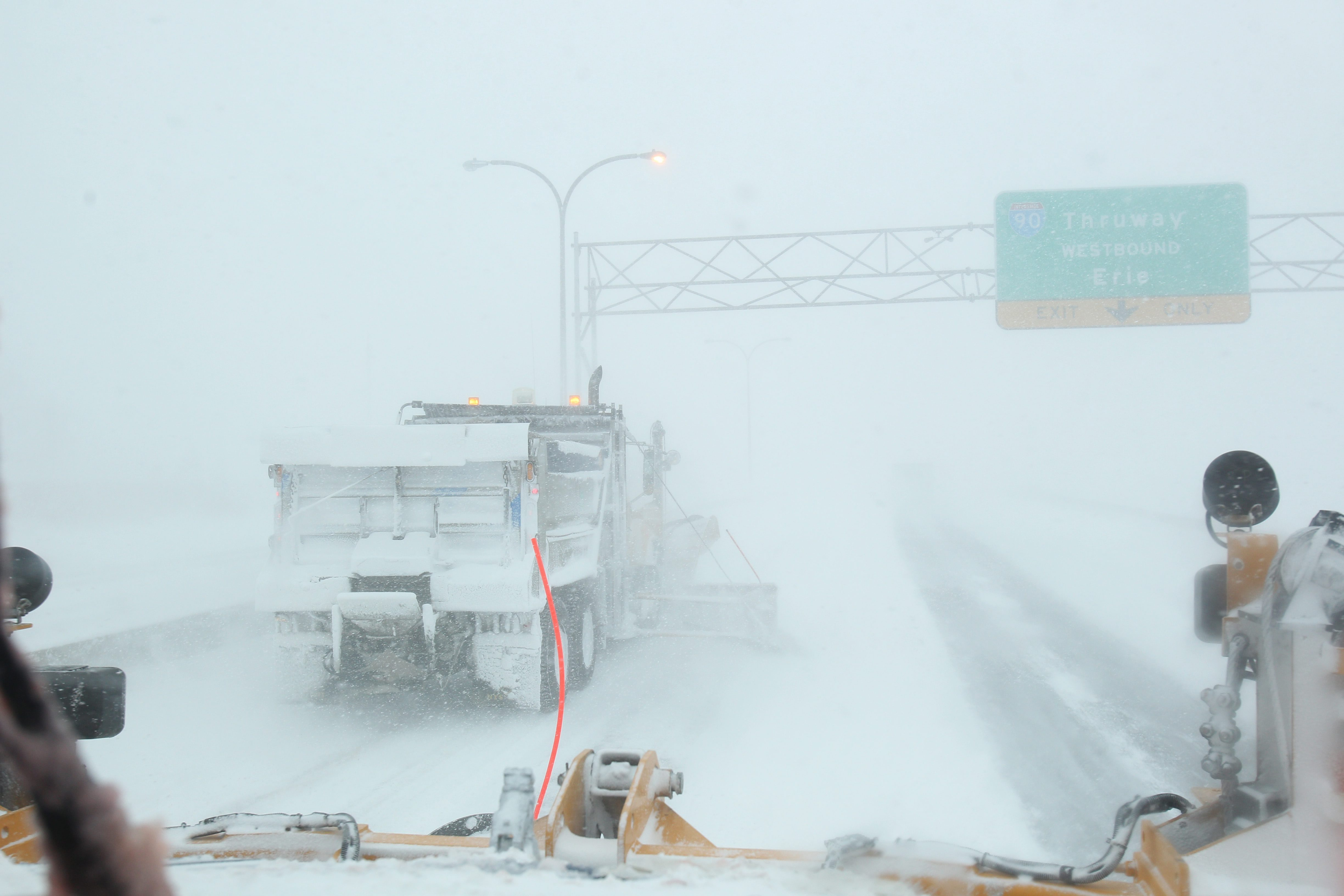 Even during a blizzard – a severe weather term that denotes potentially life-threatening travel conditions for driver and pedestrians – plow drivers do their best to keep our roads clear. (Sharon Cantillon/News file photo)