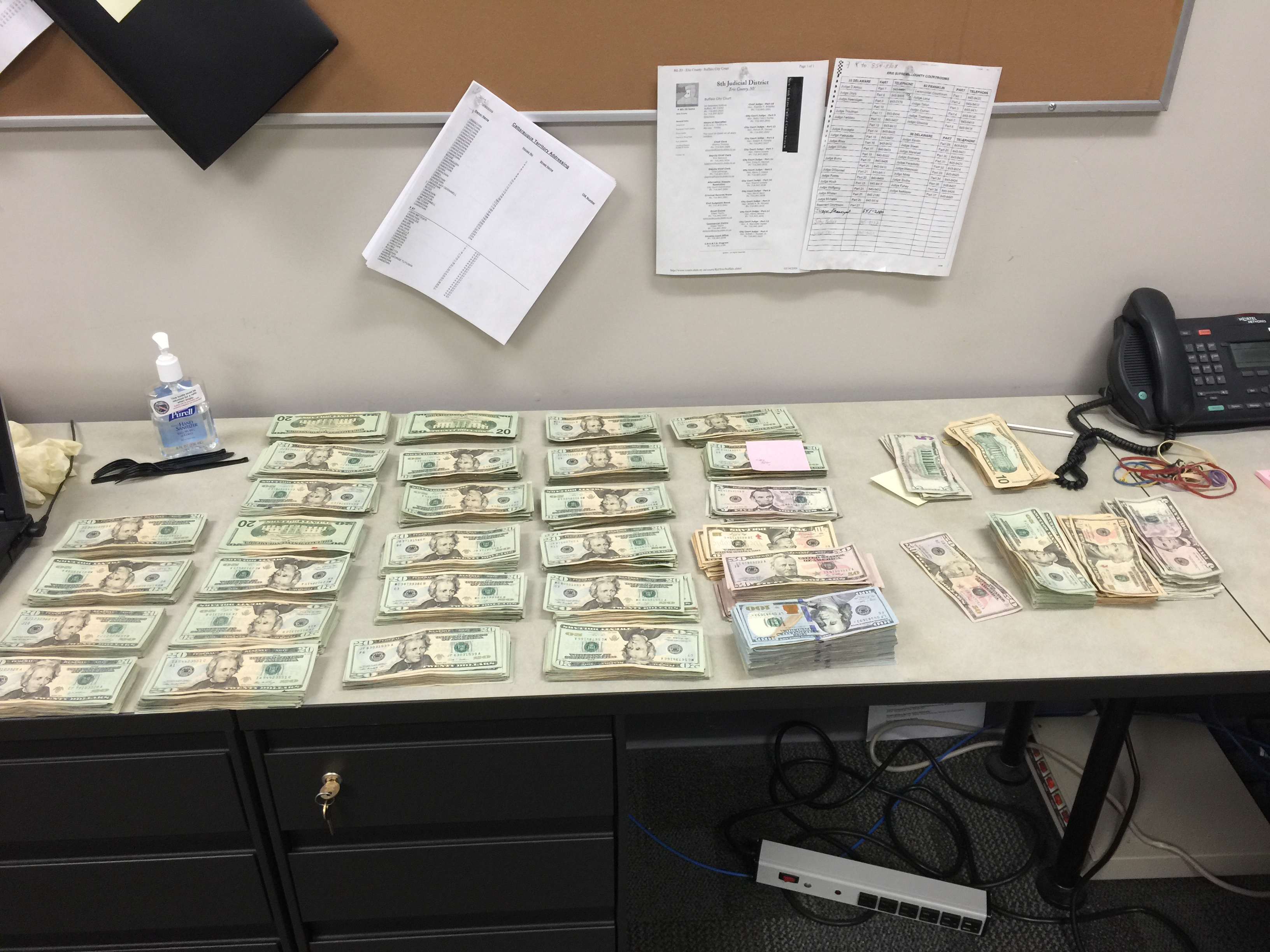 Authorities seized five pounds of suspected cocaine and nearly $50,000 in cash after a search of the home and vehicle of Tyrone Pennick, of Amherst, who is already facing federal drug distribution charges. (Erie County Sheriff's Office)