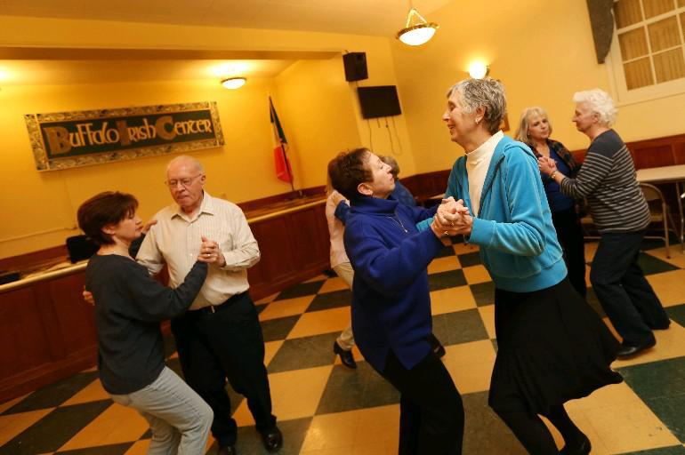 Ceili dancing takes place Tuesday evenings at the Buffalo Irish Center. (Sharon Cantillon/Buffalo News file photo)