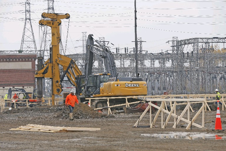 National Grid has started a $118 million upgrade of its Gardenville electrical station in West Seneca. (Robert Kirkham/Buffalo News)