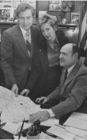 Stan Lipsey, Decorators' Show House Chair Molly Gibson and Buffalo Mayor Jimmy Griffin discuss plans for the Decorators' Show House in 1981. (News file photo)