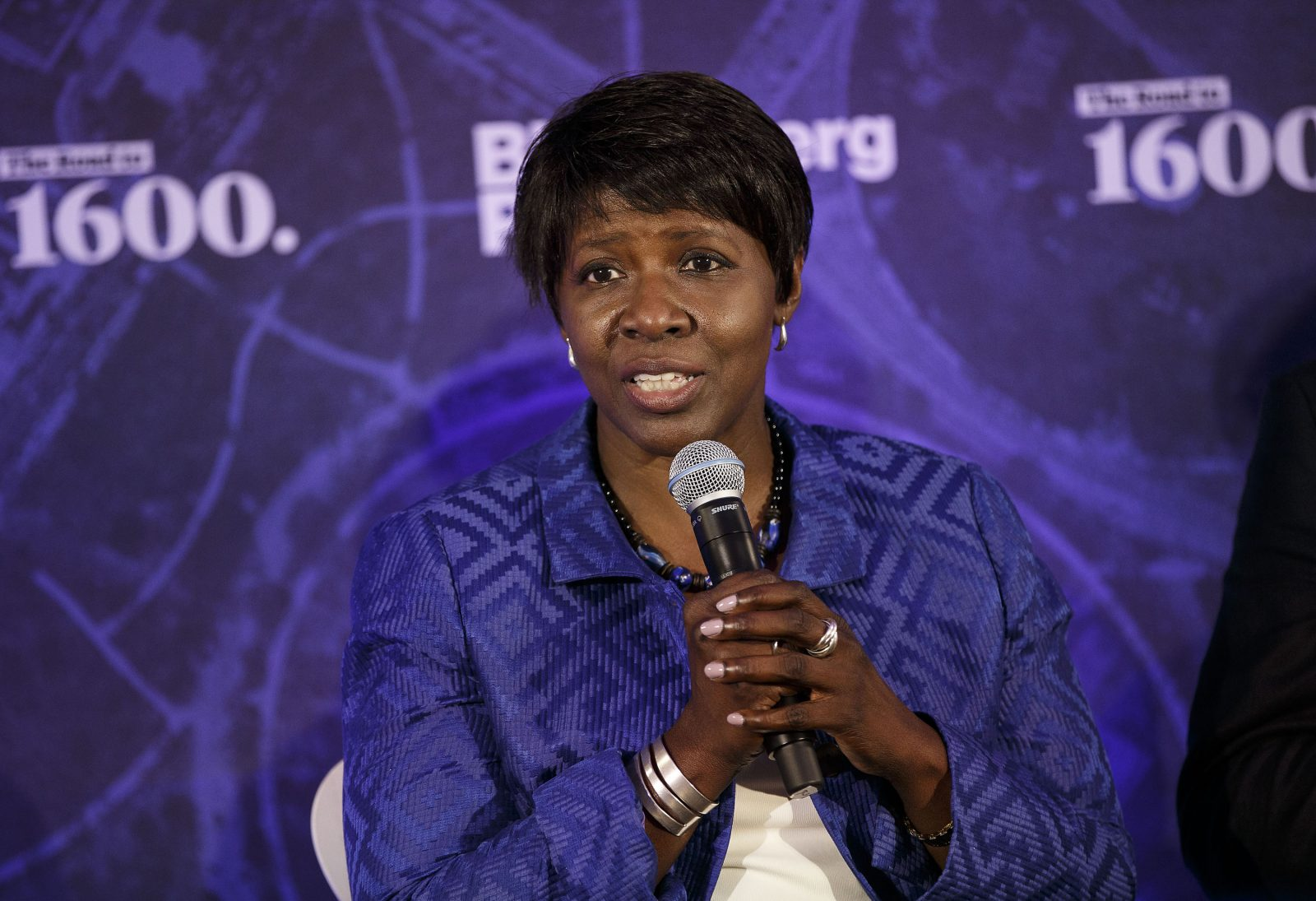 Gwen Ifill, co-managing editor of PBS NewsHour seen during on July 28, became one of the first African-American women to preside over a major national political show. (Patrick T. Fallon/Bloomberg)