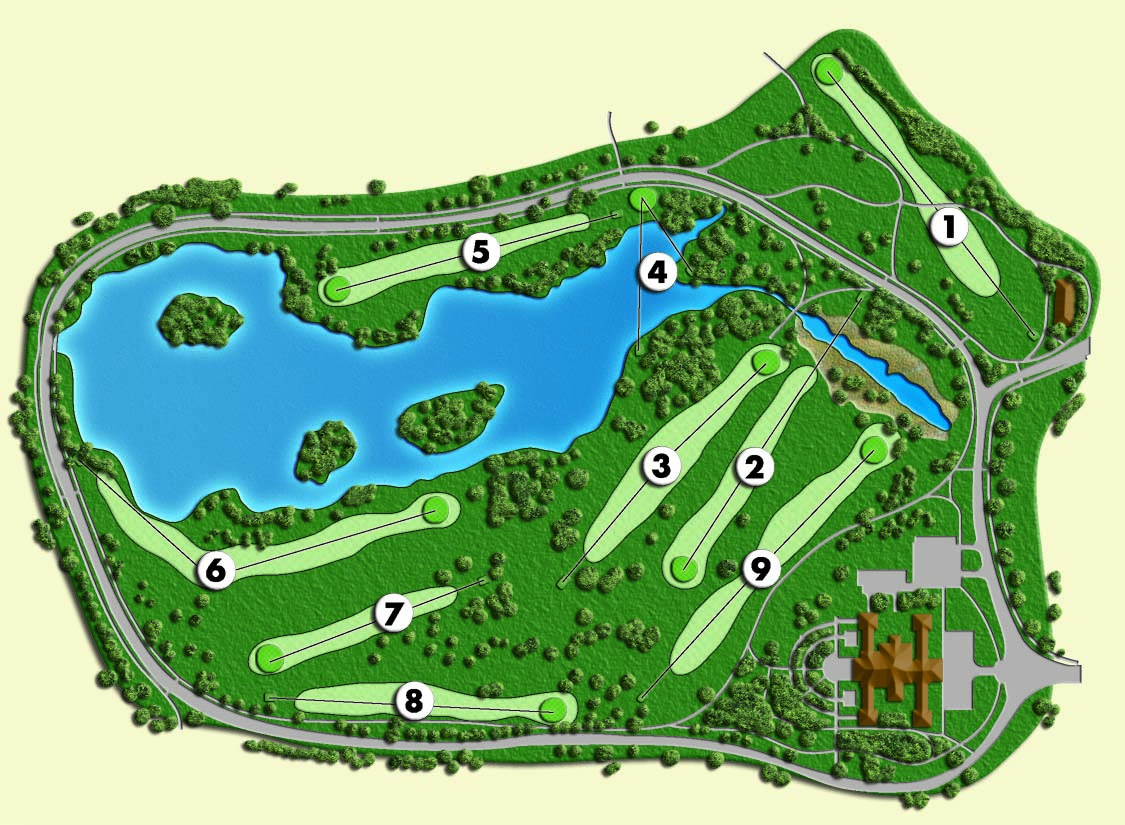 A map of the Buffalo Botanical Gardens Golf Course, where a man was discovered hanging from a foot bridge over South Park Lake on Wednesday, Nov. 9, 2016.