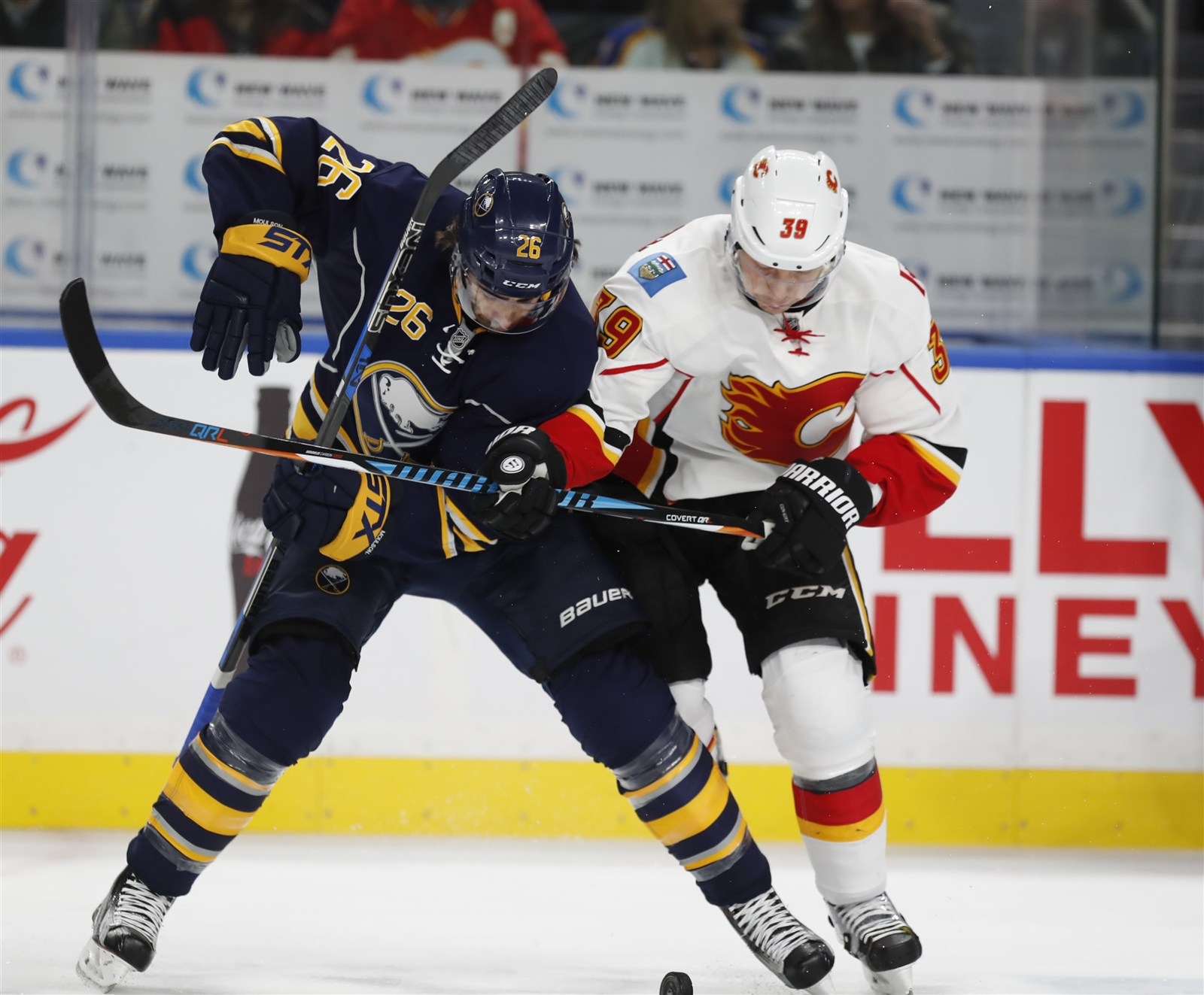 Matt Moulson is tied for the NHL lead in power play goals with six. (Buffalo News)