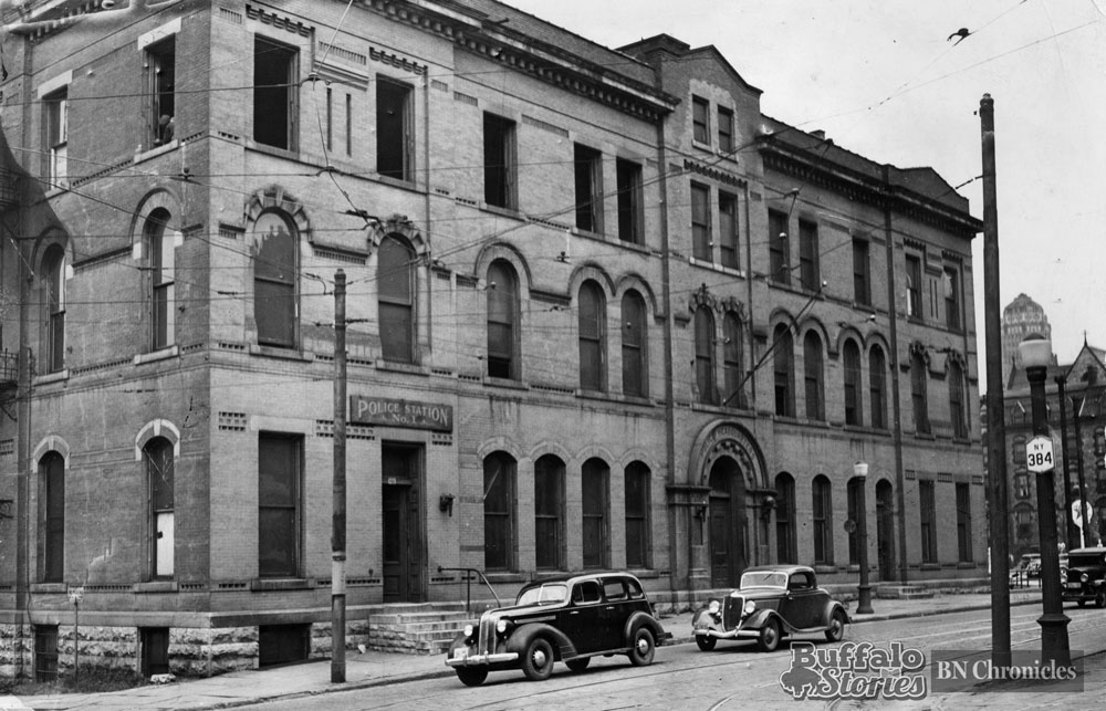 This is the police headquarters building that was abandoned in 1937 when a new Buffalo Police Headquarters building was opened at Church and Franklin. Buffalo Police are expected to leave that building to move to the old federal court building on Niagara Square in 2017. Buffalo News archives