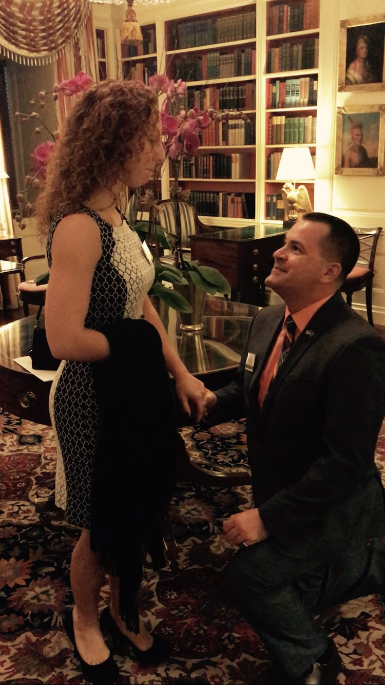 City of Tonawanda Mayor Rick Davis proposes to Megan Morrow at the White House. (Photo courtesy of Rick Davis)