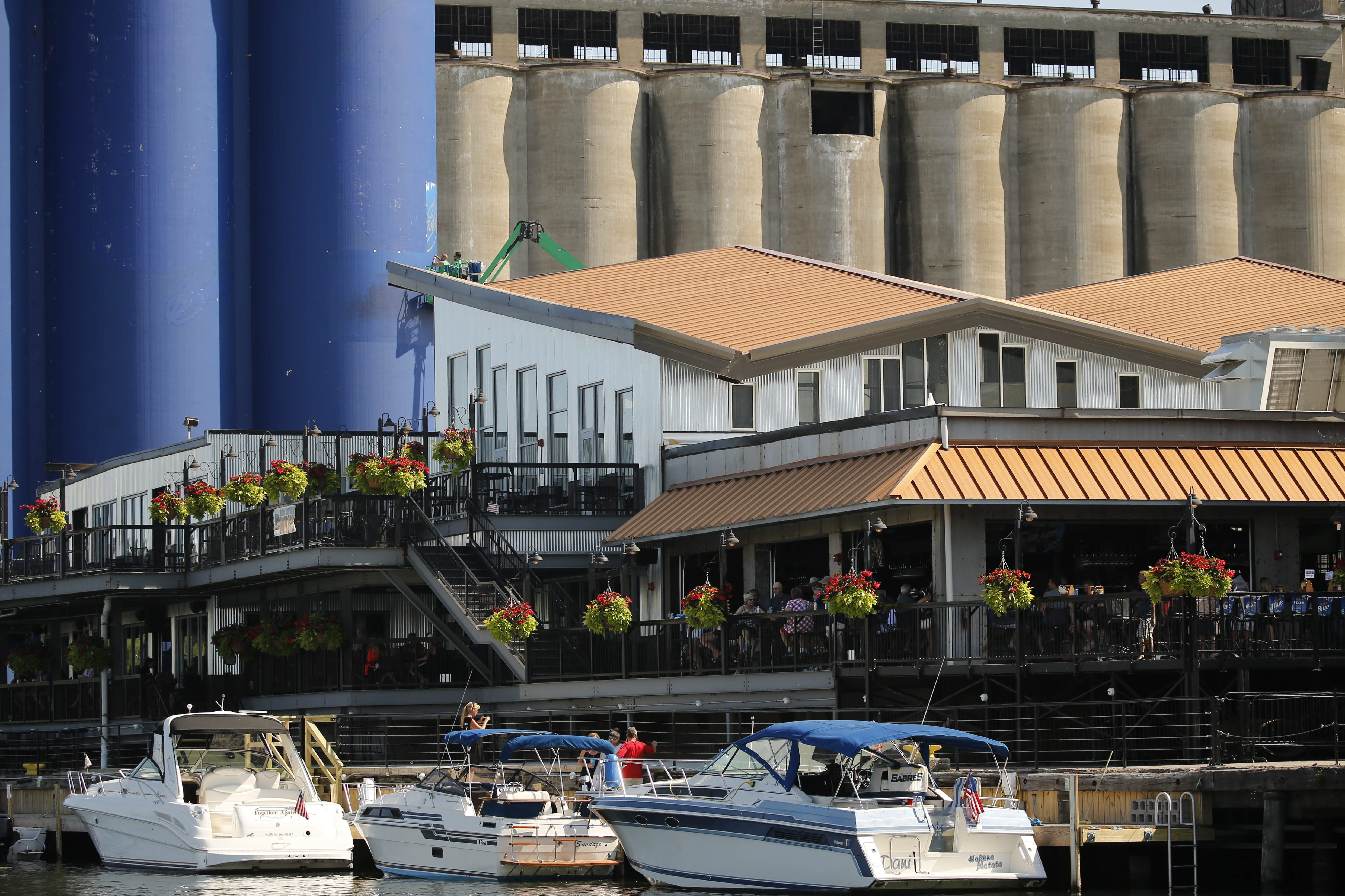 Riverworks is bustling with boat traffic on this June day. (Derek Gee/Buffalo News file photo)