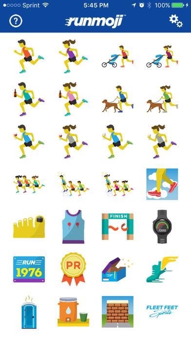 Runmojis are designed to help make more connections with the running community.