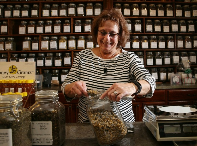 """I think tea drinkers know the feeling that we get from tea. You get that high and you get that low with coffee. With tea, you don't get the jolt. It's very even keel."" Sydney Hoffman, owner of TeaLeafs on Main Street in Williamsville"