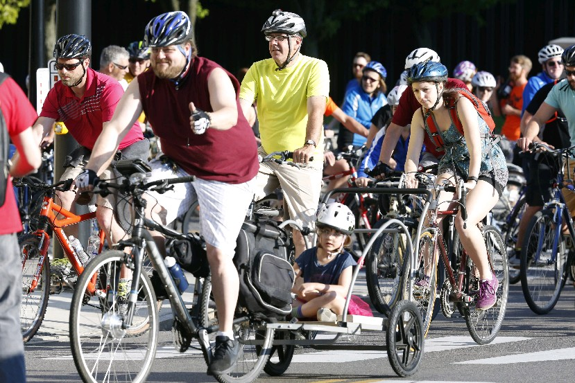 Slow Roll Buffalo starts and ends Monday at Big Ditch Brewing Company. (Harry Scull Jr./Buffalo News)